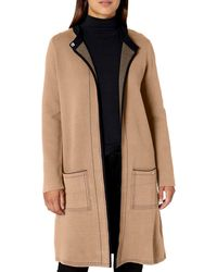 Nine West Double Face Sweater Coat With Patch Pockets - Multicolor