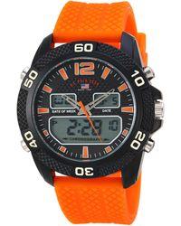 U.S. POLO ASSN. Analog-quartz Watch With Rubber Strap - Orange