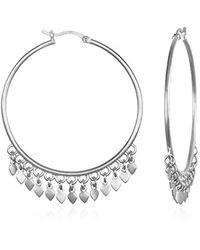 Satya Jewelry - Petal Hoop Earrings, Silver, One Size - Lyst