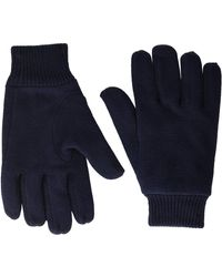 Lacoste S Cashmere Blend Gloves Cold Weather Gloves - Blue