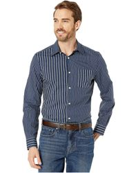 Perry Ellis Contrast Stripe Shirt - Blue