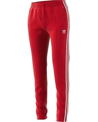 adidas Originals Superstar Track Pant - Red