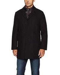 Cole Haan - Water Repellent Wool Topper Jacket With Bib - Lyst