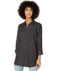 Goodthreads Lightweight Twill Long-Sleeve Button-Front Shirt Dress-Shirts - Nero