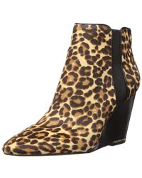Kenneth Cole Merrick Wedge Bootie Pump - Natural