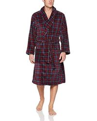 Tommy Hilfiger Plush Robe, Deep Red, One Size