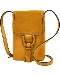Fossil Bobbie Leather Phone Wallet Crossbody - Metallic