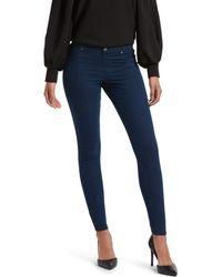 Kendall + Kylie Zip Back Denim Leggings - Blue