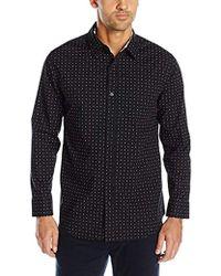 Geoffrey Beene - Printed Poplin Woven Shirt - Lyst