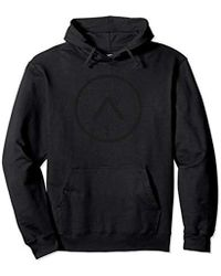 Alpha Industries - Alpha Circle Matte Black Pullover Hoodie - Lyst