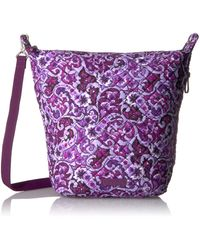 Vera Bradley Carson Hobo Bag-signature - Purple