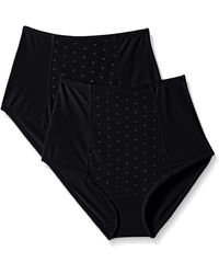 Ellen Tracy Perfect Shape Control Brief With Dot Mesh - Black