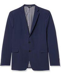 Tahari Preformance Stretch Jacket With Notch Lapel - Blue
