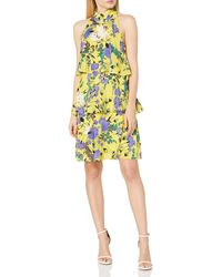Tracy Reese Tiered Halter Dress - Yellow