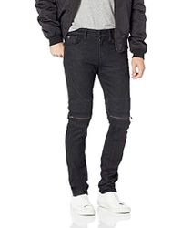 Guess - Slim Tapered Moto Zips - Lyst