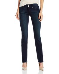 PAIGE Hidden Hills Straight Jeans-midlake - Blue