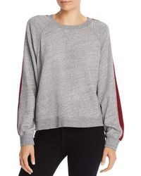 Splendid Crewneck Long Sleeve Pullover Sweater Sweatshirt - Gray