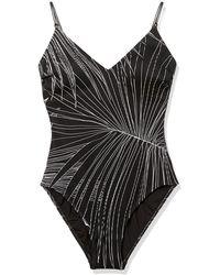 Gottex Palla Square Neck One Piece Swimsuit - Black