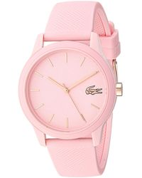 Lacoste Tr90 Quartz Watch With Rubber Strap - Pink