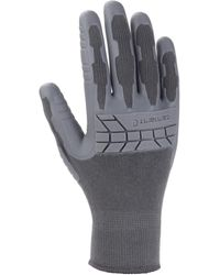 Carhartt Knuckler Work Glove With Grip And Knuckle Protection - Gray