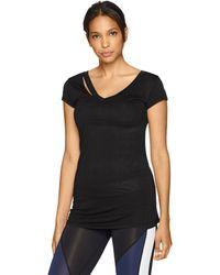 Sam Edelman Ripped Short Sleeve Tee Shirt - Black