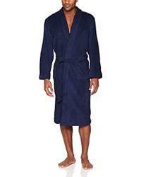 Izod - Comfort Fleece Shawl Collar Robe, - Lyst
