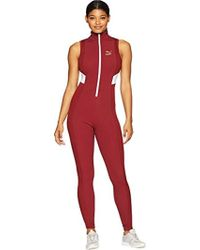 PUMA - Retro Rib Overall (pomegranate) Women's Jumpsuit & Rompers One Piece - Lyst