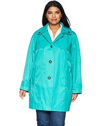 London Fog - Double Shoulder Flap Plus Size Rain Coat, - Lyst