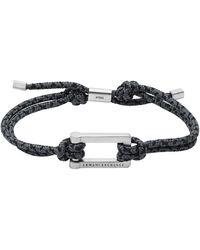 Armani Exchange Blck Nd Gry Nylon Brcelet - Metallic