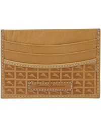 Tommy Bahama Leather Slim Card Case Carrier Wallet - Brown
