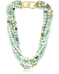Kenneth Jay Lane - 8 Row Jade Bead Necklace - Lyst