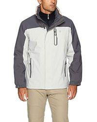 Izod - Water Resistant Jacket Fleece Lining Hidden Hood - Lyst