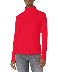 Tommy Hilfiger Long Sleeve Turtleneck Sweater - Red