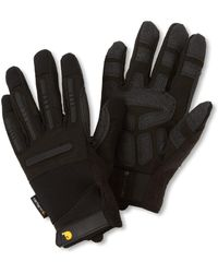 Carhartt Ballistic Spandex Work Glove With Tpr Knuckle Protection - Black