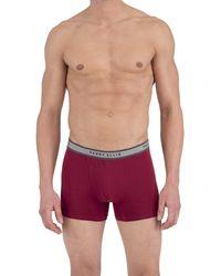 Perry Ellis Portfolio 4 Pack Cotton Stretch Boxer Briefs - Red
