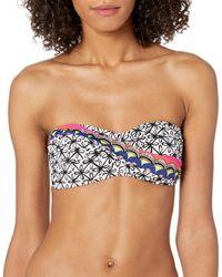 Trina Turk Twist Bandeau Bra Bikini Top - Black