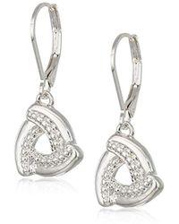 142b1e86b Swarovski Silver-Tone Night Crystal Leverback Earrings in Metallic - Lyst