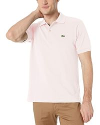 Lacoste S Short Sleeve L.12.12 Pique Polo Shirt Polo Shirt - Pink