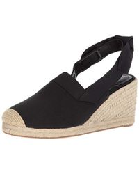 2d75e251c48 Lyst - Lauren by Ralph Lauren Indigo Espadrille Wedge in Black