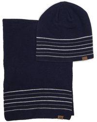 Dockers Beanie Warm Winter Knit Hat - Blue