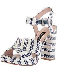 Nine West - Jimar Fabric Heeled Sandal, - Lyst