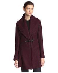 cfe335a14d Lyst - Kenneth Cole Reaction Wool-Blend Side-Buckle Walker Coat in Gray