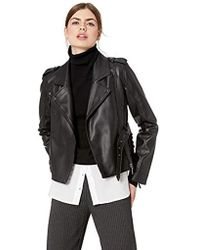 Nicole Miller Pleather Moto Jacket - Black