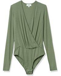 AG Jeans Lola Ribbed Long Sleeve Bodysuit - Green