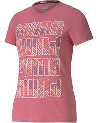 PUMA Graphic Crew T-shirt - Pink