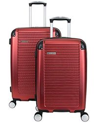 Ben Sherman Lightweight Hardside Pet Expandable 8-wheel Spinner Carry-on Suitcase - Red