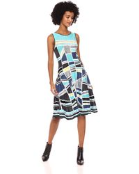 NIC+ZOE Going Places Twirl Dress - Blue