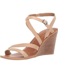 Lucky Brand Noemia Wedge Sandal, Stone, 5.5 M Us - Natural