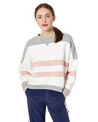 Ella Moss Samantha Colorblock Crop Sweatshirt - Multicolor