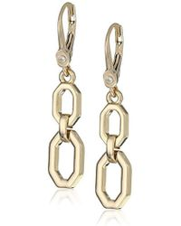 Ivanka Trump - Classics Gold-tone Double Drop Earrings, 0 - Lyst